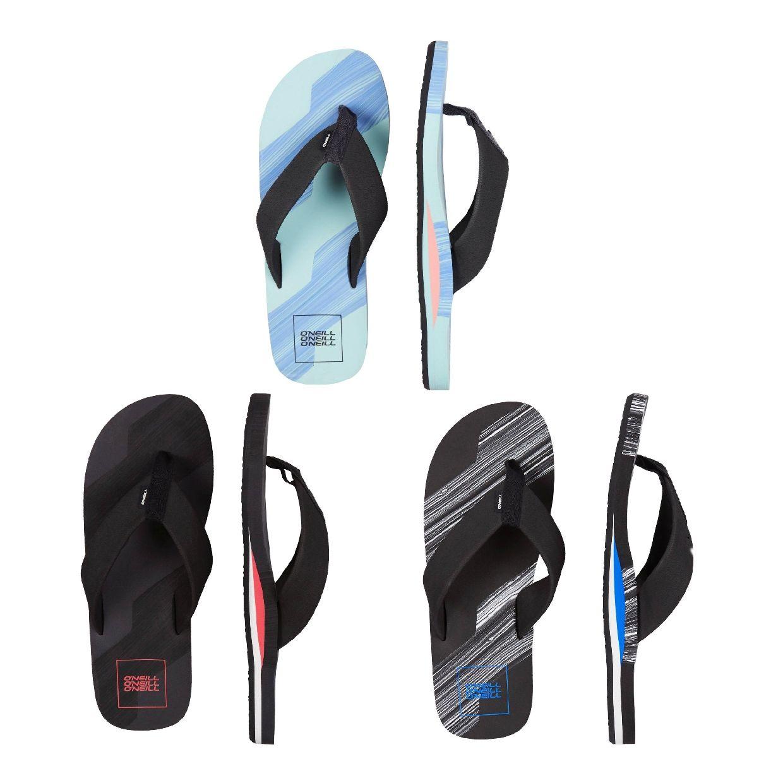 O´Neill Concrete Stripe Sandalen Zehentrenner EVA Herren Schuhe FS19