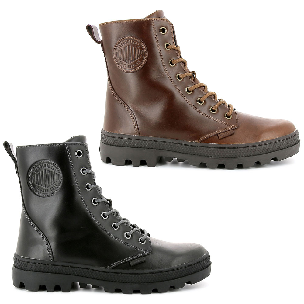 Palladium Pallabosse Off Lea Schnürstiefel Boots hochwertiges Leder