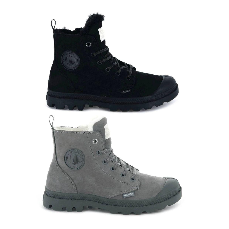 Palladium Pampa Hi Zip WL Stiefel Schnürschuhe Leder Damen Schuhe CO