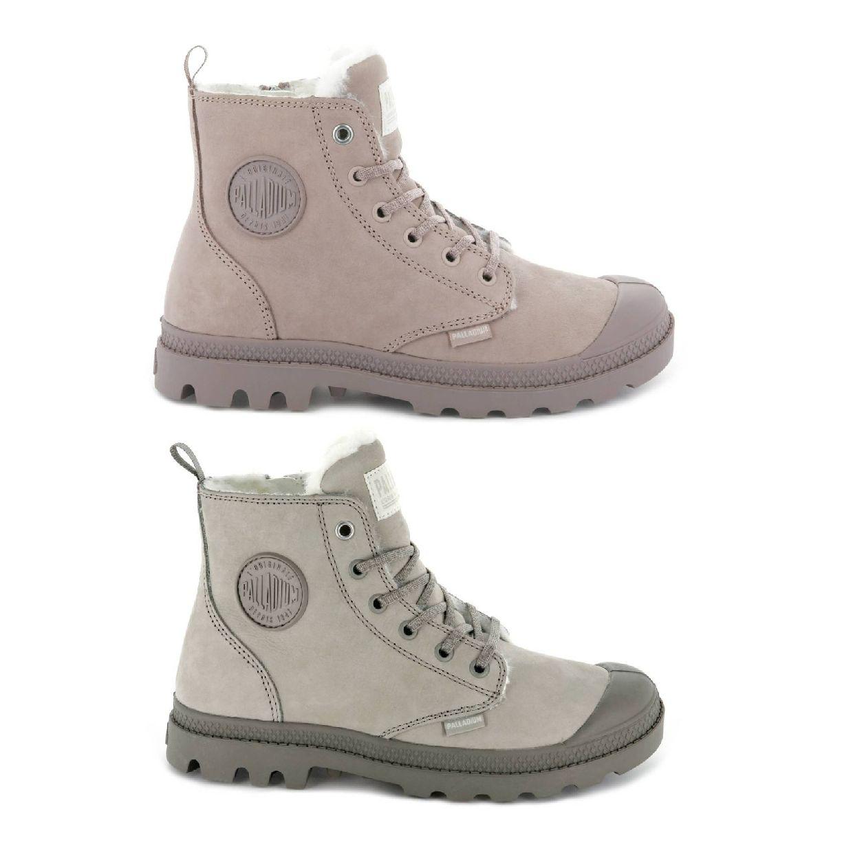 Palladium Pampa Hi Zip WL Stiefel Schnürschuhe Leder Damen Schuhe HW18