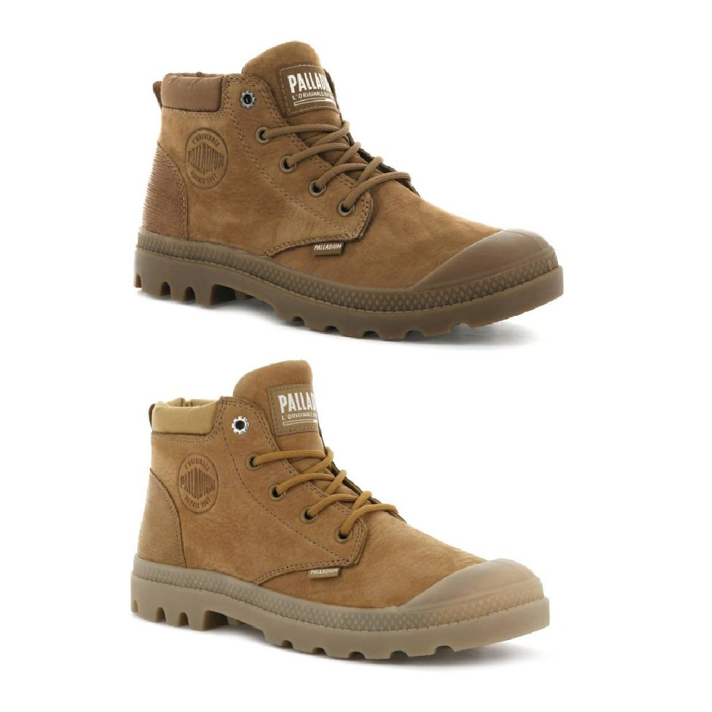 Palladium Pampa Lo Cuff Leather Stiefel Schnürschuhe Leder Damen Schuhe HW19