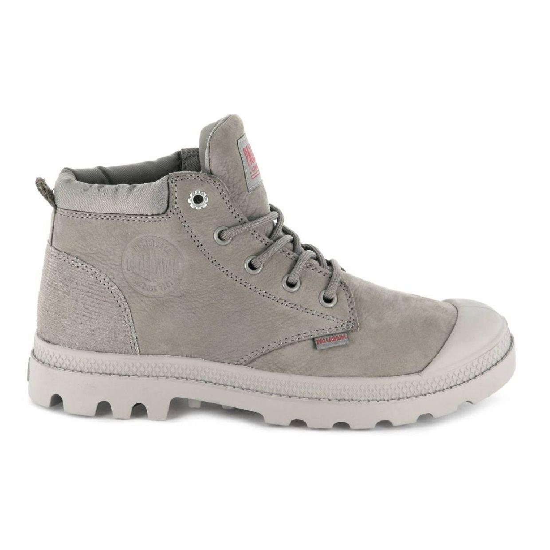 Palladium Pampa Low Cuff Lea Stiefel Schnürschuhe Nubukleder Damen Schuhe CO