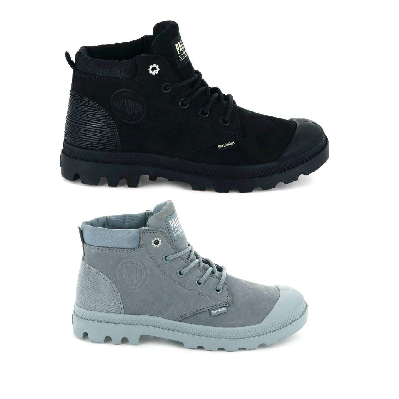 Palladium Pampa Low Cuff Lea Stiefel Schnürschuhe Nubukleder Damen Schuhe HW18