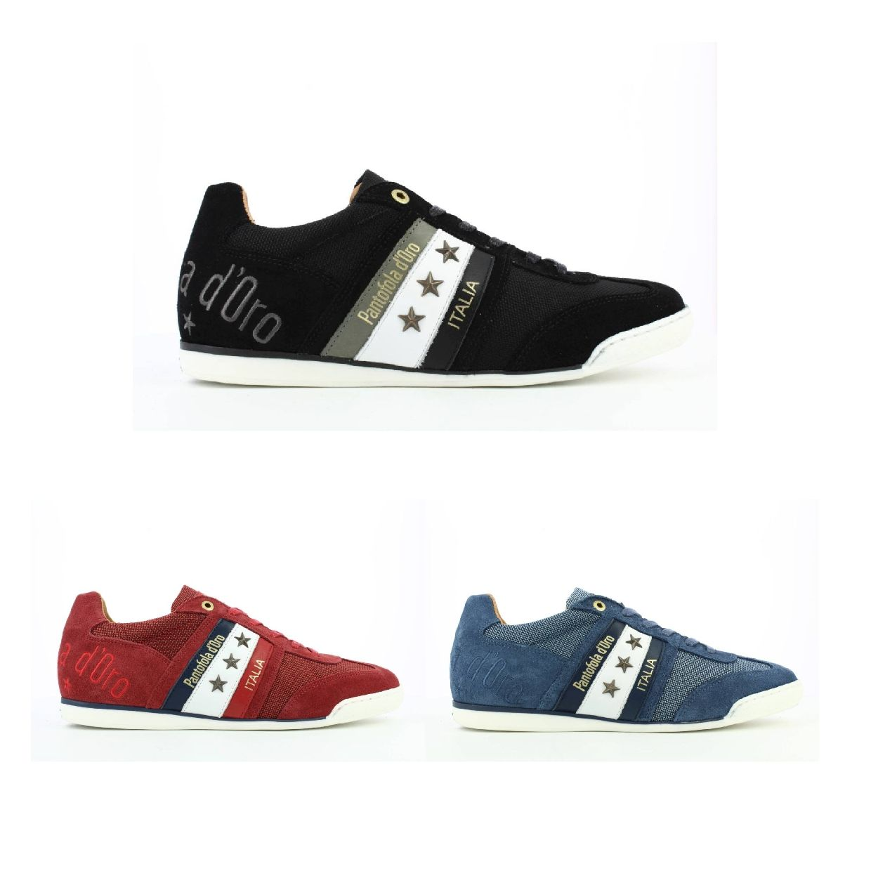 Pantofola d'Oro Imola 2T Canvas Uomo Low Sneaker HalbLeder Herren FS19