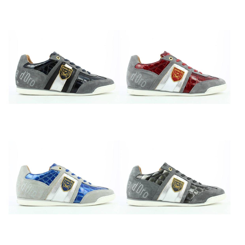 Pantofola d'Oro Imola Scudo Patent Uomo Low Sneaker Leder Herren Schuhe FS19