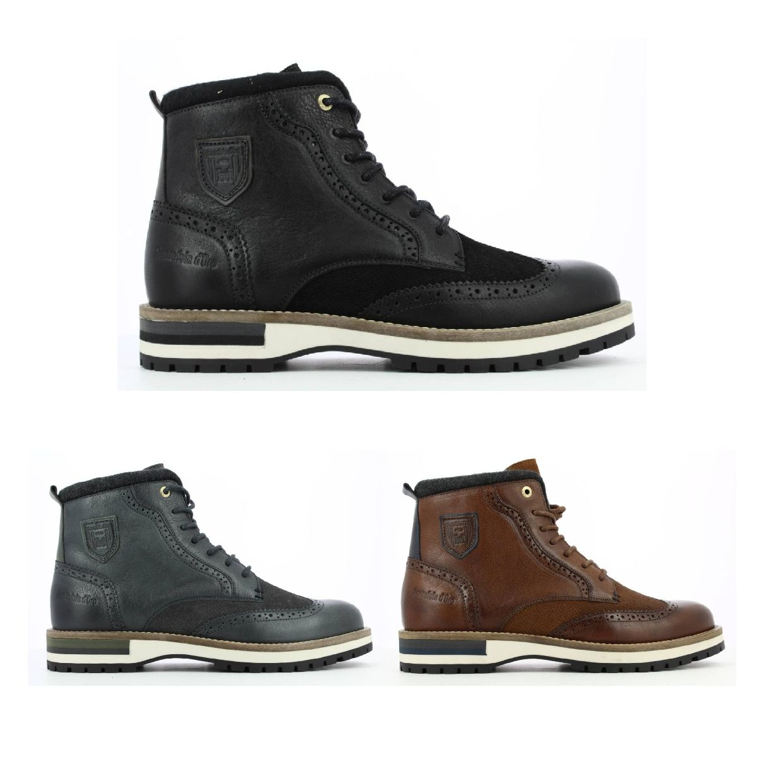 Pantofola d'Oro Tocchetto Uomo High Stiefel Glattleder Herren Schuhe HW19