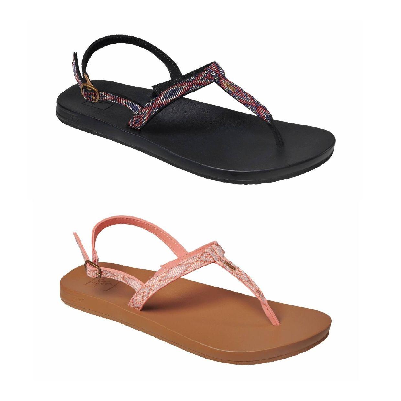 Reef Cushion Bounce Slim T Zehentrenner Sandalen Leder Damen Schuhe FS19