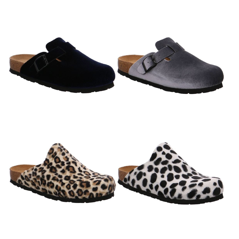 Rohde Alba Sandalen Hausschuhe Samt Damen Schuhe HW18