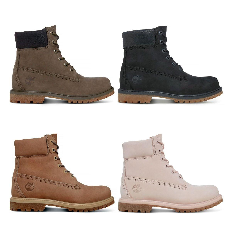 Timberland 6-Inch Premium Boot Women Schnürschuhe Nubukleder Damen Schuhe HW17