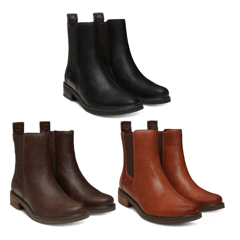 Timberland Mont Chevalier Chelsea Stiefel Schlüpfschuhe Leder Damen Schuhe HW18