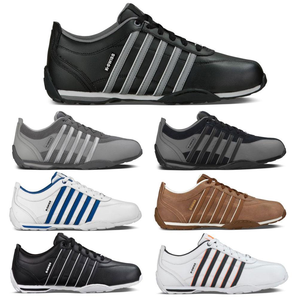 K-Swiss Arvee 1.5 Leder Sneaker Herren Damen Sportschuhe 5 Streifen Low-Cut