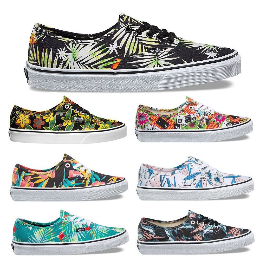 Vans Authentic Grafik Muster Skate Sneaker Unisex Canvas Schuhe hohe Sohle