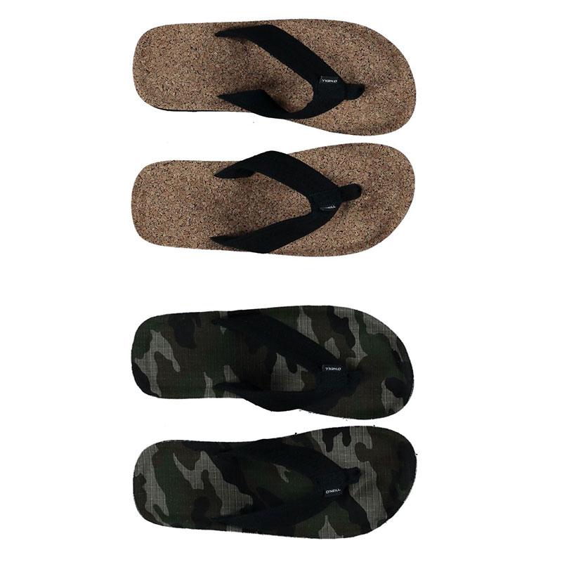 O'Neill Chad Patern Herren Sommer Sandalen Einfarbig Schlappen Zehentrenner