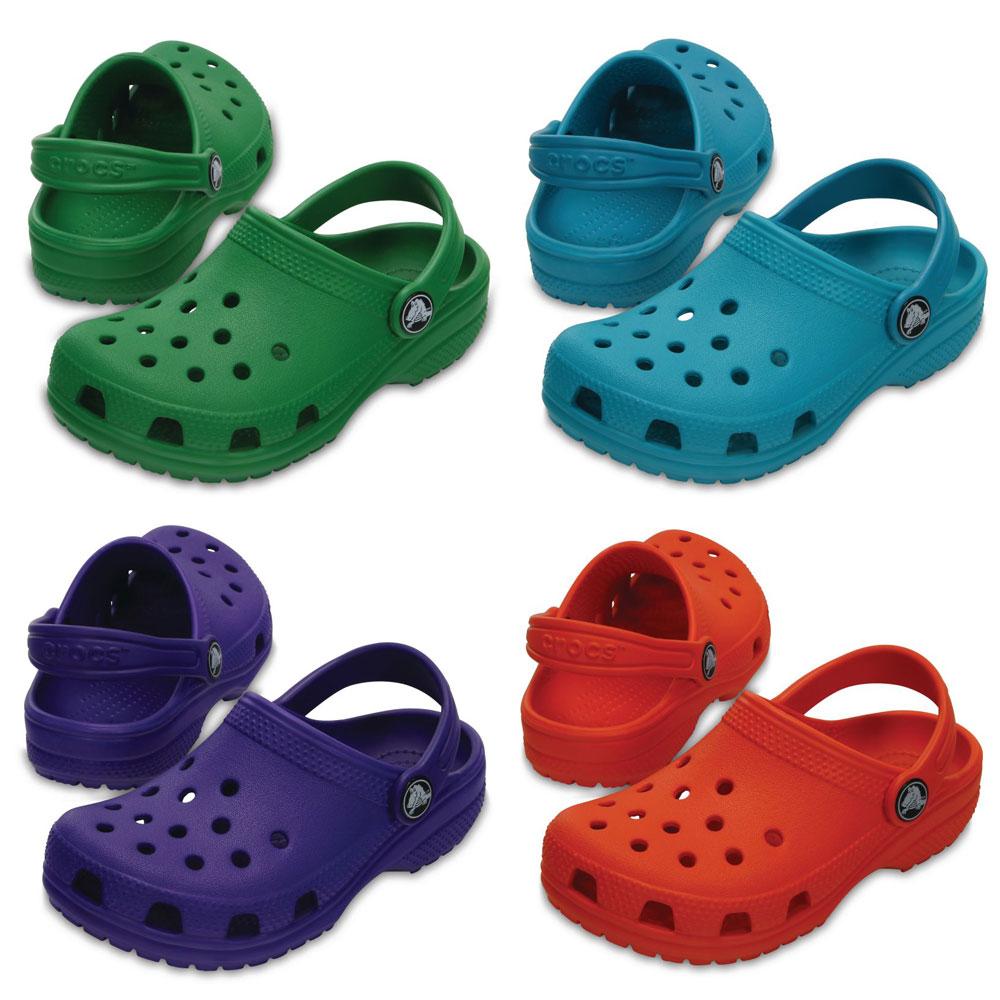 Crocs Classic Kids Kinder Clogs Fersenriemen für sicheren Halt Sandalen Schuhe