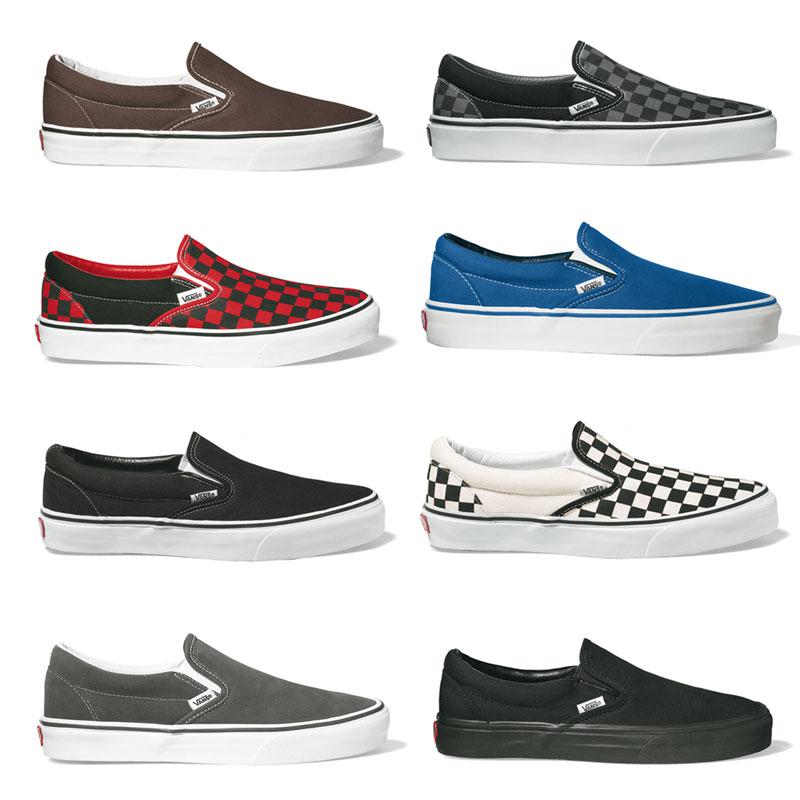 Vans Classic Slip-On Klassiker Sneaker Skate Schuhe Größen: 36 48