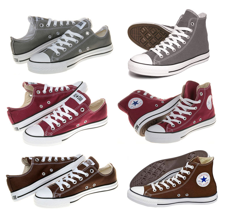 Converse Chucks All Star Braun / Grau / Bordeaux Sneaker Schuhe Gr: 35-48