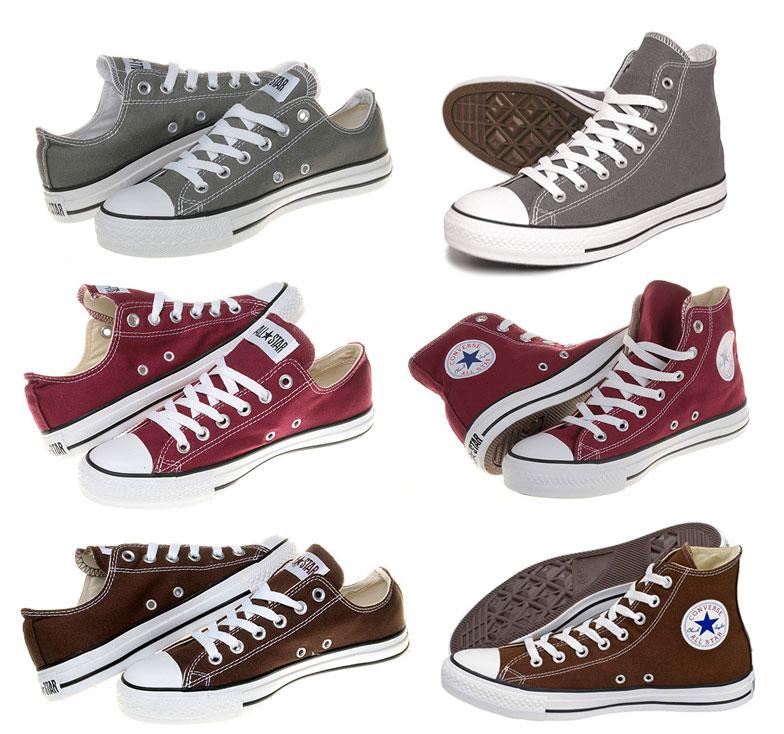 c5a869ad0e78 Converse Chucks All Star Braun   Grau   Bordeaux Sneaker Schuhe Gr  35-48