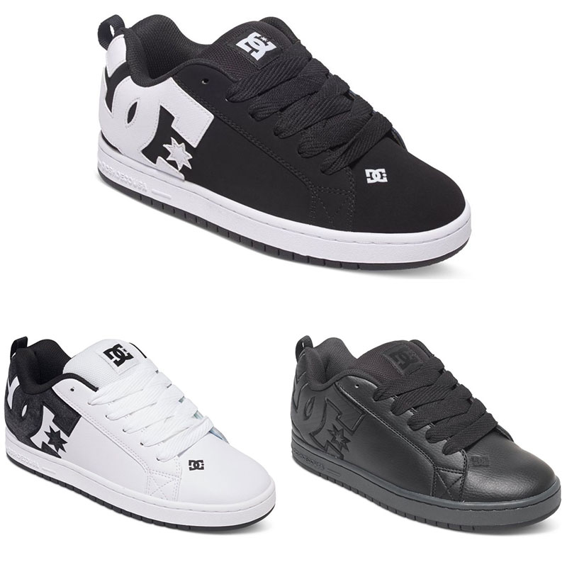 DC Shoes Court Graffik Herren Low Cut Sneaker vulkanisiert Skate Schuhe