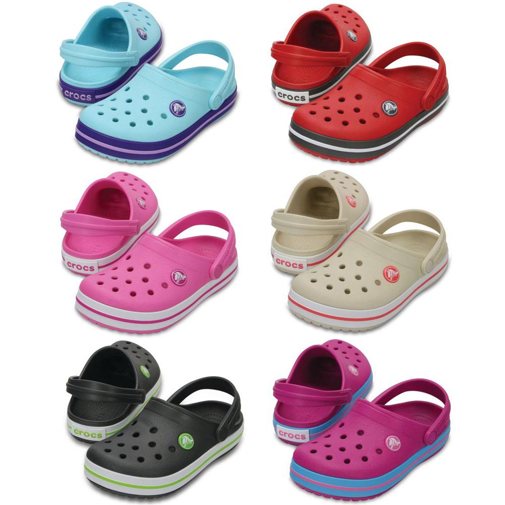 Crocs Crocband Kids Kinder Clogs Fersenriemen für sicheren Halt Sandalen Schuhe