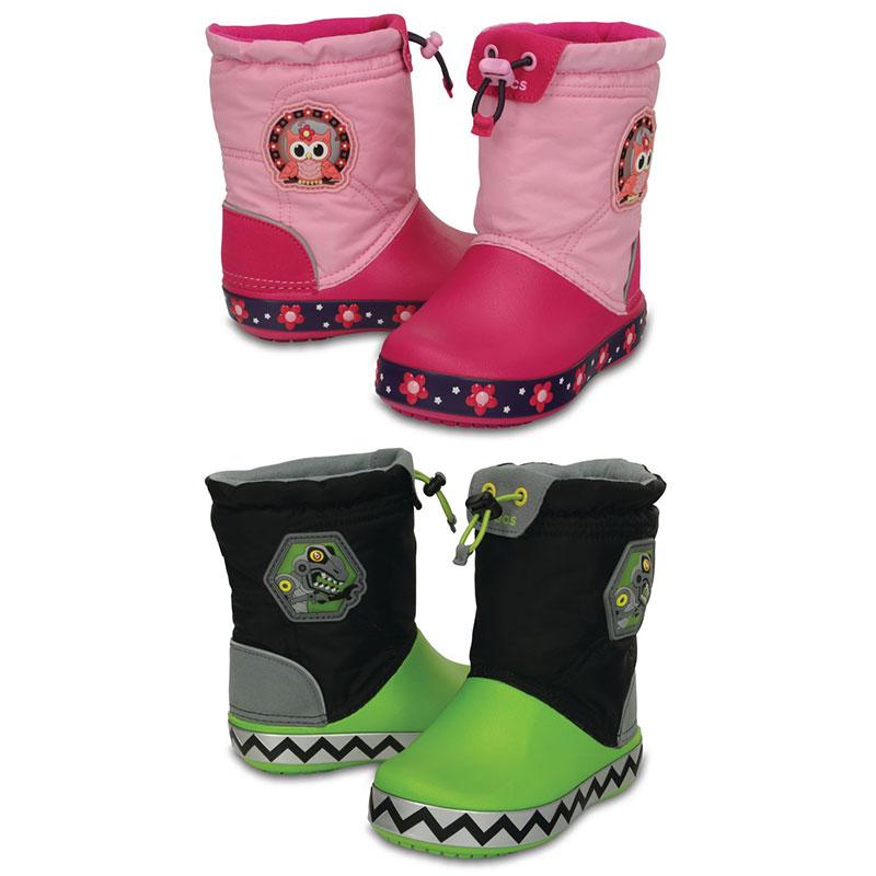 Crocs CrocsLights LodgePoint Kids Boot Kinder Regen Gummistiefel Schuhe