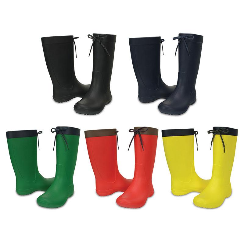Crocs Freesail Rain Boot Women Damen Regen Gummistiefel Schnürung Schuhe