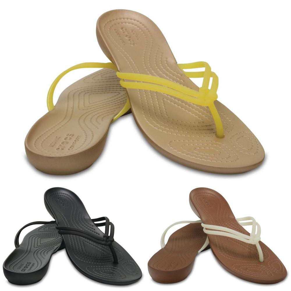 Crocs Isabella Flip Damen Sandale Schuhe Badelatschen Zehentrenner Fachhändler