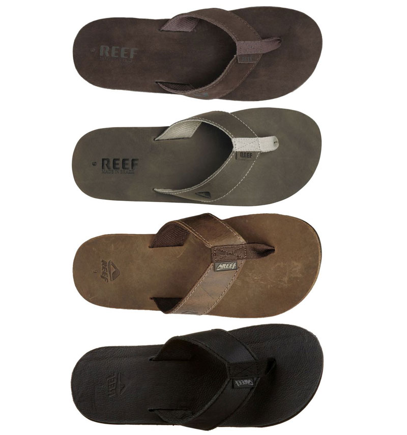 REEF Leather Smoothy Herren Leder Sandalen 4 Farben Gr: 40 47