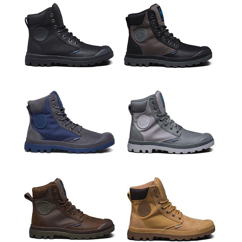 Palladium Pampa Sport Cuff WPN Unisex Leder Schnürstiefel Trekking Boots Futter