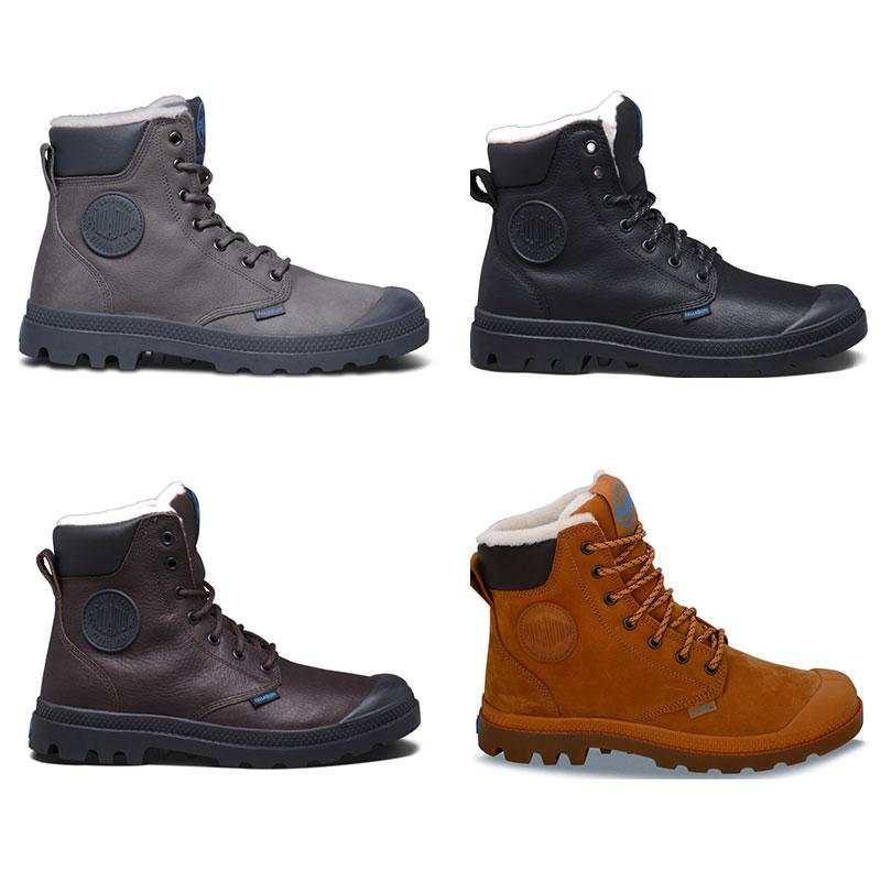 Palladium Pampa Sport Cuff WPS Unisex Leder Schnürstiefel Trekking Boots Futter
