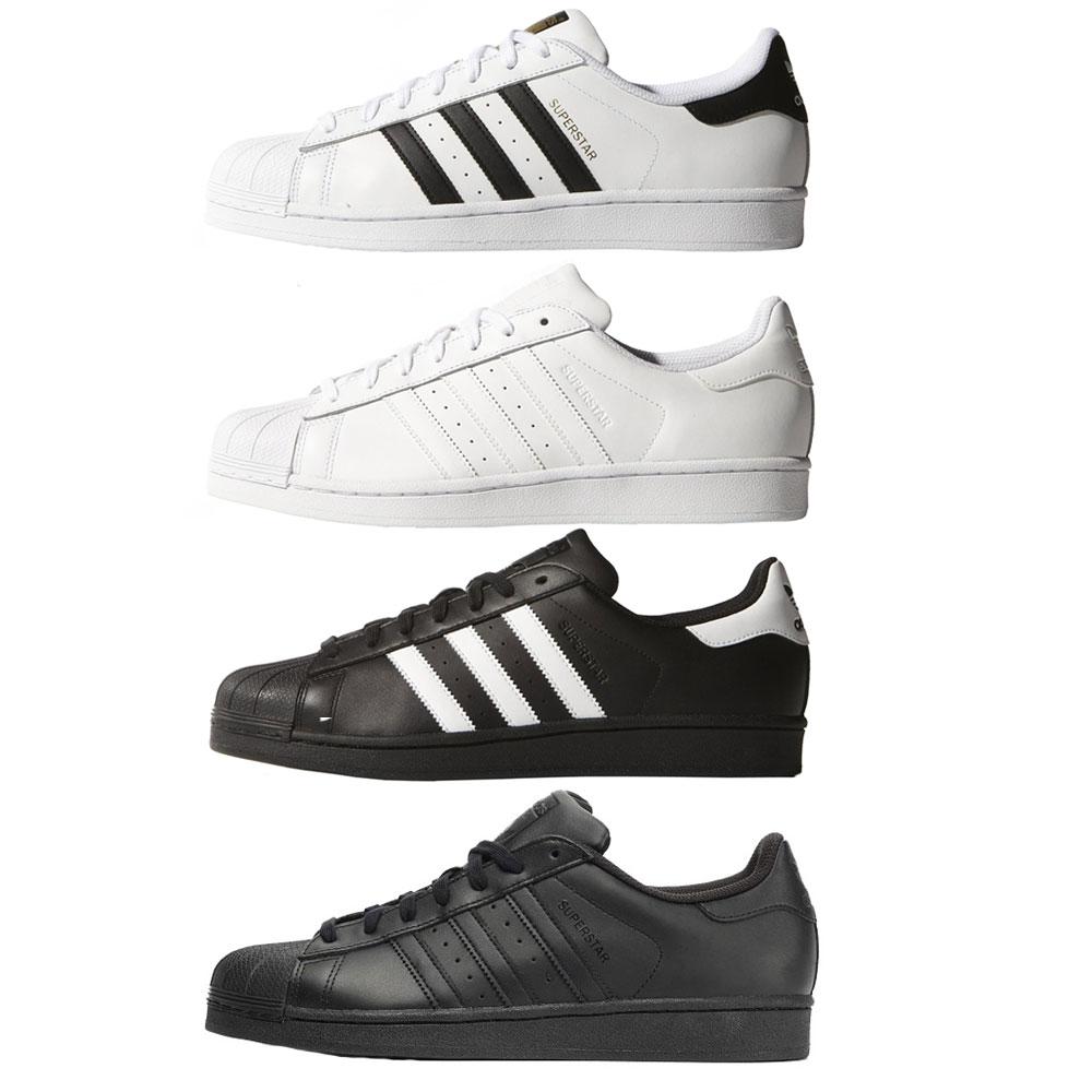Adidas Superstar Herren Damen Leder Sneaker Skate Schuhe Low-Cut