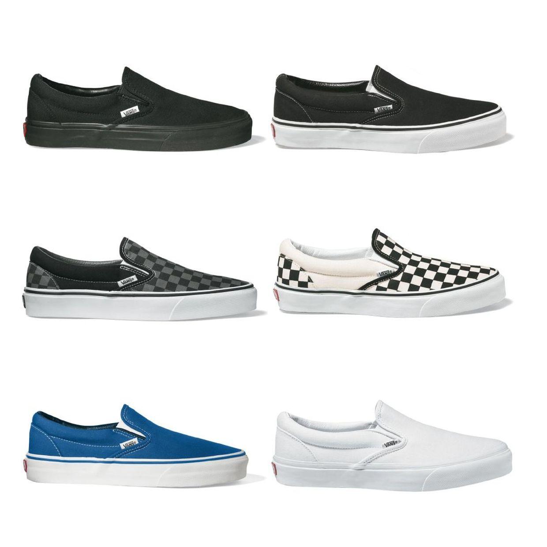 Vans Classic Slip-On Sneaker Halbschuhe Canvas Unisex Schuhe CO
