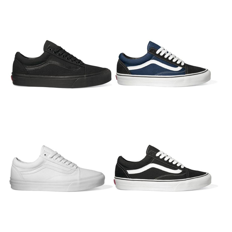 Vans Old Skool Sneaker Halbschuhe Canvas Unisex Schuhe CO